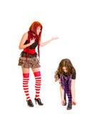 Muchacha con no escuchar su novia Foto de archivo libre de regalías