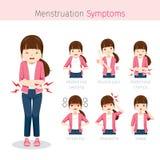 Muchacha con síntomas de la menstruación Fotografía de archivo libre de regalías