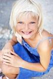 Muchacha con sonrisa Fotografía de archivo