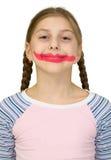 Muchacha con sonrisa del payaso Fotos de archivo libres de regalías
