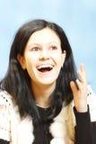 Muchacha con sonrisa hermosa Fotos de archivo