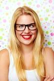 Muchacha con sonrisa loca Imagen de archivo libre de regalías