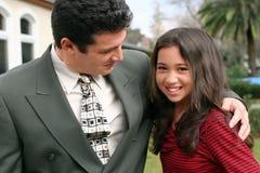 Muchacha con su padre Fotografía de archivo libre de regalías