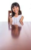Muchacha con su reflexión I de la cara Fotografía de archivo libre de regalías