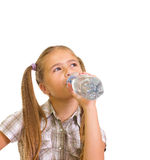 Muchacha con un agua. Imagen de archivo