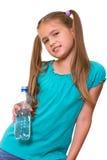 Muchacha con un agua. Imagenes de archivo