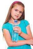 Muchacha con un agua. Fotografía de archivo libre de regalías