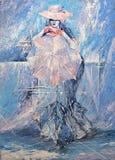 Muchacha con un paraguas Imagen de archivo libre de regalías