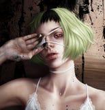 Muchacha con un remiendo del ojo libre illustration