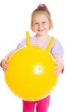 Muchacha con una bola Fotografía de archivo