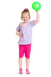 Muchacha con una bola Fotos de archivo libres de regalías