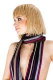Muchacha con una bufanda Imágenes de archivo libres de regalías