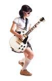 Muchacha con una guitarra Fotografía de archivo libre de regalías