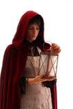 Muchacha con una linterna Fotografía de archivo libre de regalías