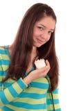 Muchacha con una rosa. Fotografía de archivo libre de regalías