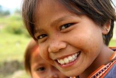 Muchacha con una sonrisa Imagen de archivo libre de regalías