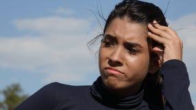 Muchacha confusa del adolescente Fotografía de archivo