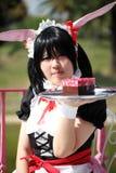 Muchacha cosplay del carácter japonés del animado Foto de archivo libre de regalías