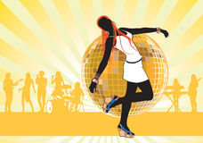 Muchacha dancing3 stock de ilustración