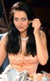Muchacha Dark-haired Imagen de archivo libre de regalías