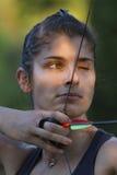 Muchacha de Archer Foto de archivo libre de regalías
