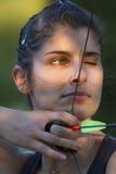 Muchacha de Archer Fotografía de archivo libre de regalías