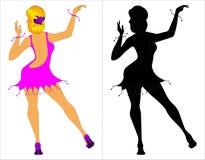Muchacha de baile Foto de archivo libre de regalías