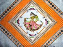Muchacha de baile en diseño de la cubierta de la almohada Fotografía de archivo libre de regalías