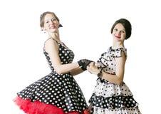 Muchacha de baile en estilo del perno-para arriba Fotos de archivo