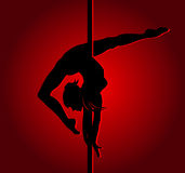 Muchacha de baile flexible libre illustration
