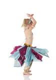 Muchacha de baile joven de vientre Imagenes de archivo