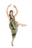 Muchacha de baile sobre blanco Fotos de archivo libres de regalías