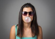Muchacha de Bubblegum Imagen de archivo libre de regalías