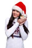 Muchacha de Christmass Foto de archivo libre de regalías