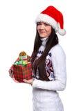 Muchacha de Christmass Fotos de archivo