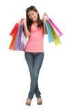 Muchacha de compras Fotos de archivo libres de regalías