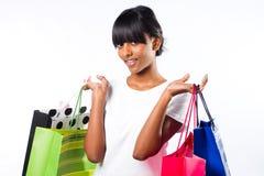 Muchacha de compras Foto de archivo