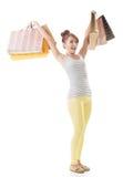 Muchacha de compras Imágenes de archivo libres de regalías