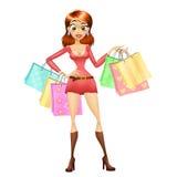 Muchacha de compras Foto de archivo libre de regalías