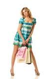 Muchacha de compras atractiva Fotos de archivo libres de regalías