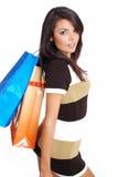 Muchacha de compras atractiva Imágenes de archivo libres de regalías