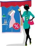 Muchacha de compras de Glam stock de ilustración