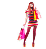 Muchacha de compras de la manera fotografía de archivo libre de regalías