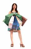 Muchacha de compras feliz Fotografía de archivo