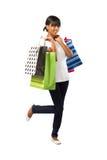 Muchacha de compras india Imagen de archivo