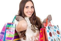 Muchacha de compras sonriente Foto de archivo