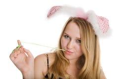 Muchacha de conejito atractiva Imagen de archivo libre de regalías