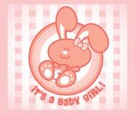 Muchacha de conejito del bebé Imagen de archivo libre de regalías