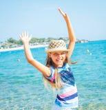 Muchacha de Cutie en sombrero Imágenes de archivo libres de regalías