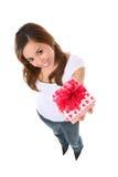 Muchacha de día de las tarjetas del día de San Valentín Foto de archivo libre de regalías